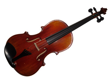 Rickert Tertis Body Tenor Viola (one octave lower than violin) 15.5 inch body size (front view)
