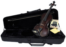 Glasser Carbon Composite 5-String Acoustic-Electric Violin Outfit (case shown)