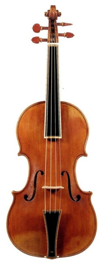 Stradivari Post-1700 Pattern Baroque Violin by D. Rickert (front)