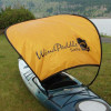 Large Sun Shade Gold Rear View