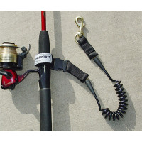 Coiled Fishing Rod/Net Leash