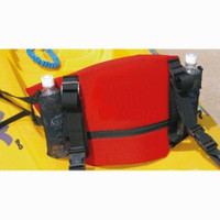 Deluxe Back Band with Mesh Pockets Red