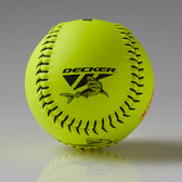 Decker Black Shark 12'' Super Grip Yellow Leather Fastpitch Softball, NSA .47