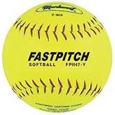 "Markwort 11"" Fastpitch Softball Yellow Genuine Leather"