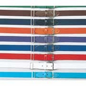 "Buck's 1 1/4"" Wide Elastic Belts w/Leather Tabs - Youth"