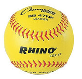 "Rhino SB47NF Optic Yellow 12"" Softballs"