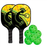 PickleballNow Competition Paddle Bundle - 6 balls