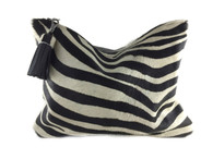 NEW! Zebra Calf Hair & Leather Clutch - 1 LEFT!