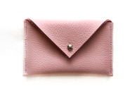 NEW! Envelope Leather Card Holder - Blush Pink