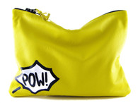 Comic Leather Statement Clutch