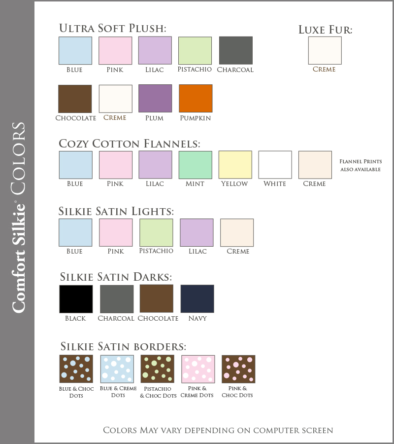 Comfort Silkie Colors