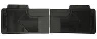 52011 | Black Rear Husky Liner Floor Mats (01-07 Silverado|Sierra) (94-02 Ram) (99-14 Super Duty)