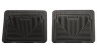 52021 | Black Husky Liners (01-07 Silverado|Sierra) (94-12 Ram) Heavy Duty Rear Floor Mats