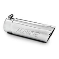 "T5112 | Universal Angled Cut Rolled End 3 1/2"" Exhaust Tip"