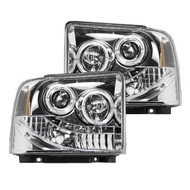 264193CL | Clear Chrome Projector Headlights
