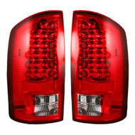 264171RD | Dodge Ram LED Tail Lights Red