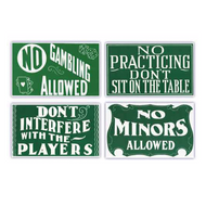 Pool Hall Advisory Signs (Set of Four)