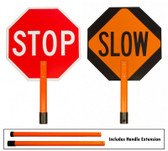 "18"" Standard Stop/Slow Paddle Sign Kit w/ Full Length Extension"