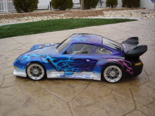 Porsche Gt2 body shell fitted with 3 piece Jmex alloy wheels