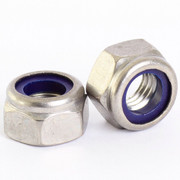 6mm A2 Stainless Steel Nylon Insert Nyloc Nylock Lock Nuts M6 X 1.0mm Pitch - 25 pack