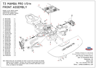 T3 Pro Front Assemble Exploded