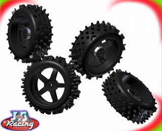 J&A Racing Pro Fg 1/5th Scale off road wheels & Tyres set of 4