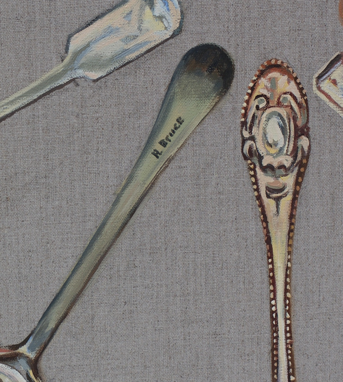 Spoons clock close up signature