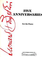 Five Anniversaries For Piano