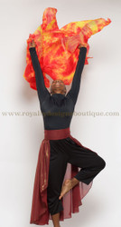 NEW** Watercolor SILK FIRE VEIL /Manto de fuego!!