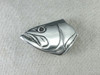 Bass fish face buckle in sterling