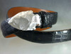 Arrow head Buckle in Sterling satin finish shown on 1 1/4 alligator belt sold separately