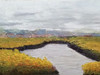 Hunting Island Marsh  16 x 20 acrylic on wood panel  detail 1