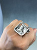 Upcycled Abstract Statement Ring