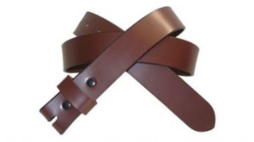 Belt in Brown Genuine Cowhide Leather