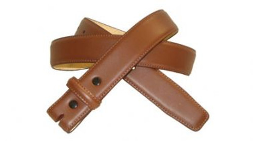 Belt in Saddle Tan Brown Genuine Leather with Stitching