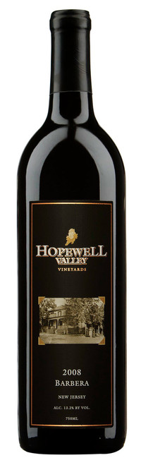 This is a bottle of Barbera wine produced by Hopewell Valley Vineyards - one of many New Jersey wineries