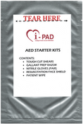 IPAD AED Starter Kit  Contains:     1 tough cut shears  1 prep razor  1 pair of nitrile gloves  1 resusciation face shield  2 patient wipes