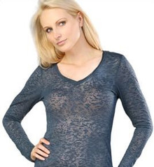 Women's Long-Sleeved Burnout