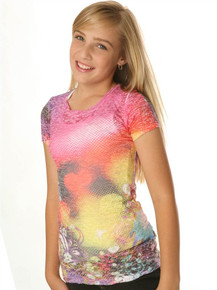 Pink Fairy Tale Short-Sleeved Tween Burnout