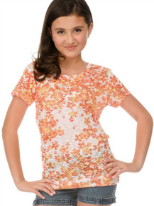 Dainty Daisy Short-Sleeved Tween Burnout