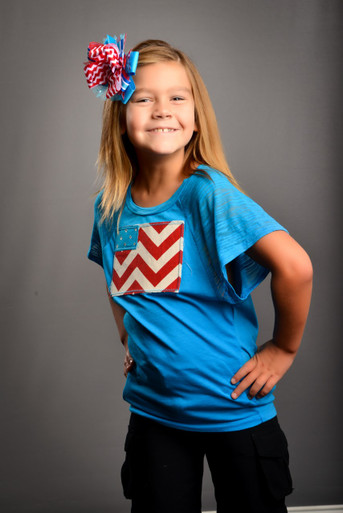 Tween Dolman-Sleeved Chevron Flag