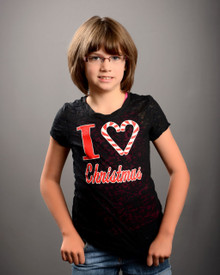 I Heart Christmas Tween Burnout