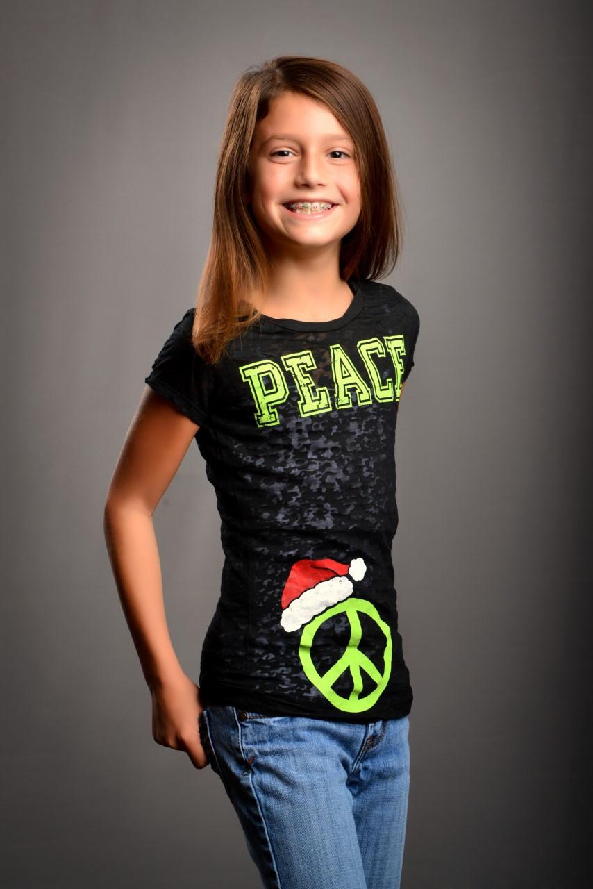 Santa Hat Peace Tween Hip Together
