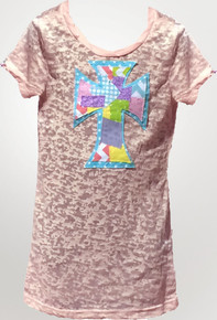 Spring Patchwork Cross Tween Burnout