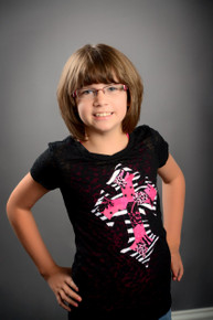 Zebra & Pink Cross Tween Burnout