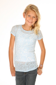 Girls Short-Sleeved Burnout