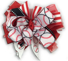Baseball Sister Bow