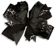Black Flower Dress Bow