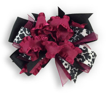 Burgandy Flower Dress Bow