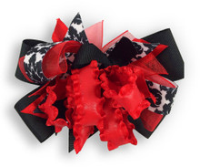 Red Flower Dress Bow